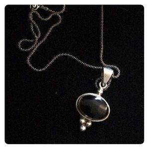 Sterling silver black onyx panda to necklace